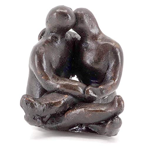 - Lovers Embrace Miniature Sculpture, Always Yours, Handmade Cast-Stone in Gift Bag