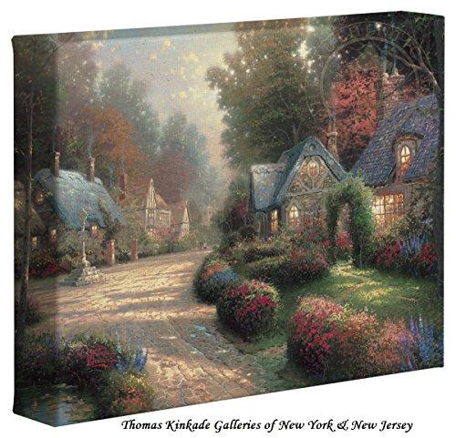 """Thomas Kinkade Cobblestone Lane – 8"""" x 10"""" Gallery Wrapped"""