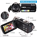 """Camera Camcorders, Besteker Portable 1080P 24MP 16X Digital Zoom Video Camcorder with 2.7"""" LCD and 270 Degree Rotation Screen"""