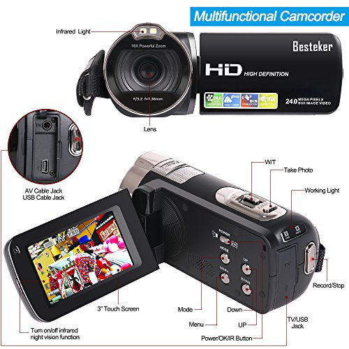 Camera Camcorders, Besteker Port...