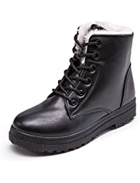 Woman Waterproof Boot Size 11 is Ok (Warm Fur-Lined) (Lace up) (2018 New Design)