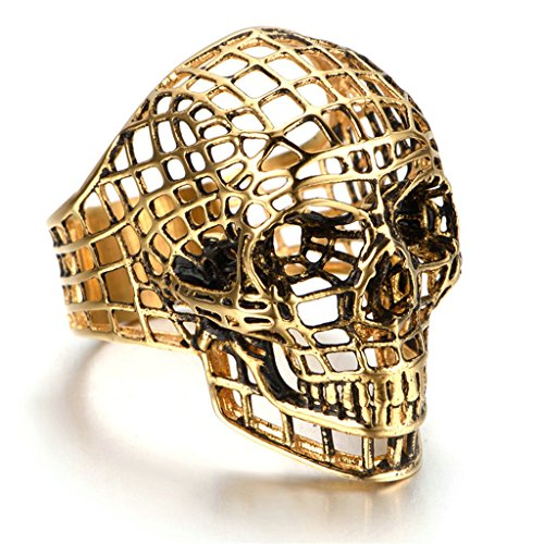 Star Lord Costume Ebay (Stainless Steel Ring for Men, Skull Ring Gothic Gold 2035MM Size 12 Epinki)