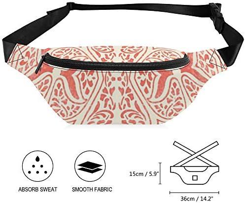 Cosmic Latte Rajkumari Batikのサンゴ礁 ウエストバッグ ショルダーバッグチェストバッグ ヒップバッグ 多機能 防水 軽量 スポーツアウトドアクロスボディバッグユニセックスピクニック小旅行