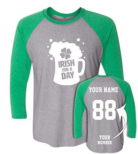 Custom Jerseys St Patrick's Day T Shirts - Saint Pattys Baseball Raglans Irish Outfits