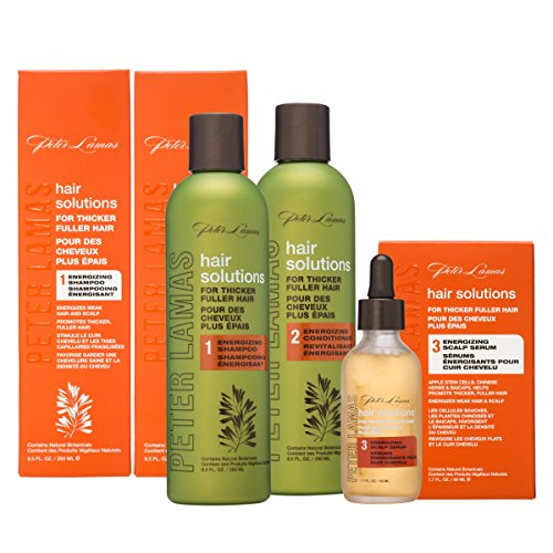 White Shampoo Ginger - Peter Lamas Hair Solutions Energizing Shampoo, Conditioner & Serum Set, 3 Count