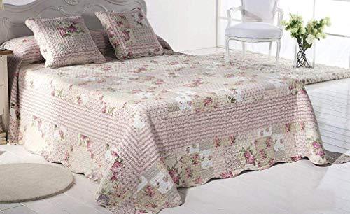 (Legacy Decor 3 PCS Quilt Bedspread Blanket Coverlet Set Floral Pink Design Queen, King (Queen))