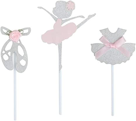 Tutu Cupcake Toppers Glitter Cupcake Toppers Ballerina Cupcake Toppers Glitter Ballerina Cupcake Toppers