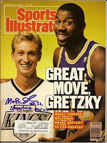 MAGIC JOHNSON signed SPORTS ILLUSTRATED SI 8/22/88 COA - Autographed NBA Magazines