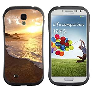 "Hypernova Slim Fit Dual Barniz Protector Caso Case Funda Para SAMSUNG Galaxy S4 IV / i9500 / i9515 / i9505G / SGH-i337 [Naturaleza Sunset Agua""]"