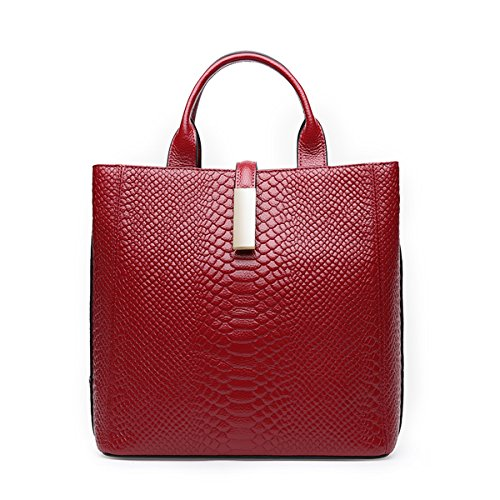 Q0875 Dissa Leather Bag Pockets Red Multiple Soft Shoulder Women Handbags drqwSr