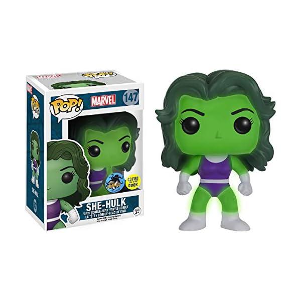 51U71nAACiL She-Hulk [Glow-in-Dark] (Comikaze Exc): Funko Pop! Vinyl Figure Bundle with 1 Compatible 'ToysDiva' Graphic Protector (147 - 11836 - B)