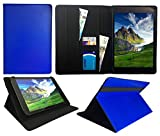 Sweet Tech ANOC 10.1 Inch Android Tablet Blue Universal Wallet Case Cover Folio (10-11 inch)