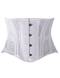 Camellias 26 Steel Boned Corset Short Torso Heavy Duty Waist Training Cincher