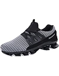 Mens Casual Breathable Walking Sneaker Slip On Blade Outdoor Sport Shoes Mesh Running Shoes