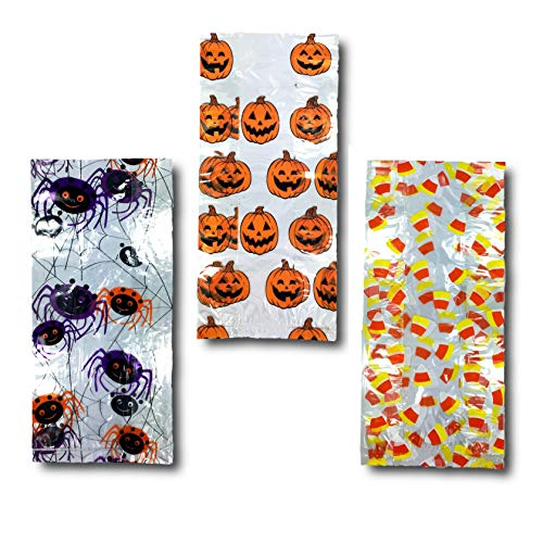Fright Night Halloween Cello Treat Bags Candy Party Favors Bags - 60 Pieces