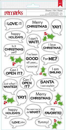 American Crafts 27 Piece Christmas Word Bubble Stickers