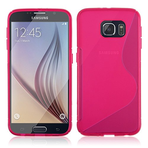 Samung S6 Edge Sline Hot Pink TPU Slim Strong Case Cover