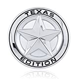 car emblem texas - DSYCAR Diameter 3
