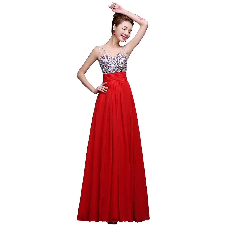 Partiss Women High Waist Maxi Bridesmaid Dresses