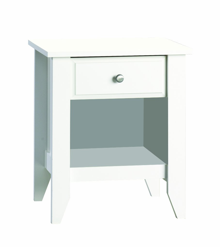 Child Craft Shoal Creek Ready-to-Assemble Night Stand, Matte White