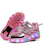 LED-Roller Skates Schoenen, Single Wheel Knipperende Lichtgevende Skates Technische Skateboarden Schoenen Kids Outdoor Gymnastics Sneakers