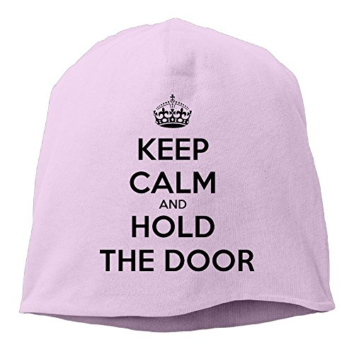 DMN Fashion Solid Color Keep Calm and Hold The Door Turtleneck Cap For Unisex Pink One ()