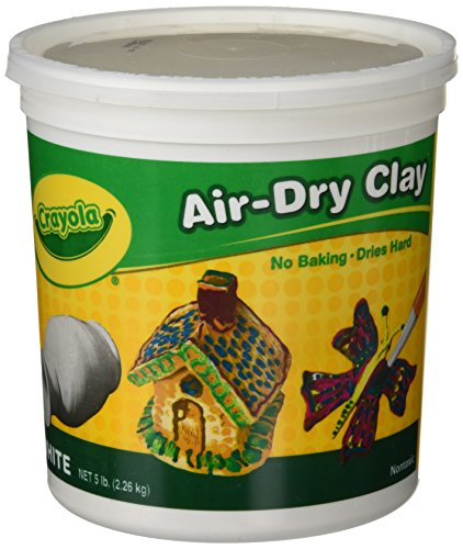 Crayola Air-Dry Clay, White, 5 lb. Resealable Bucket, Great for Classroom, Educational, Art - Drying Paint Fast