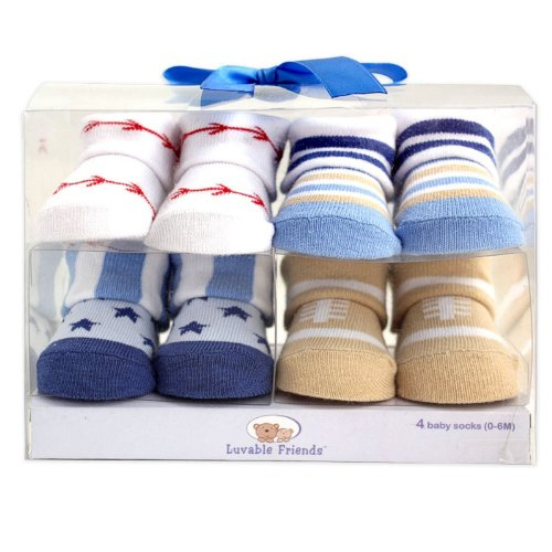 Luvable Friends 4 Piece Novelty Socks