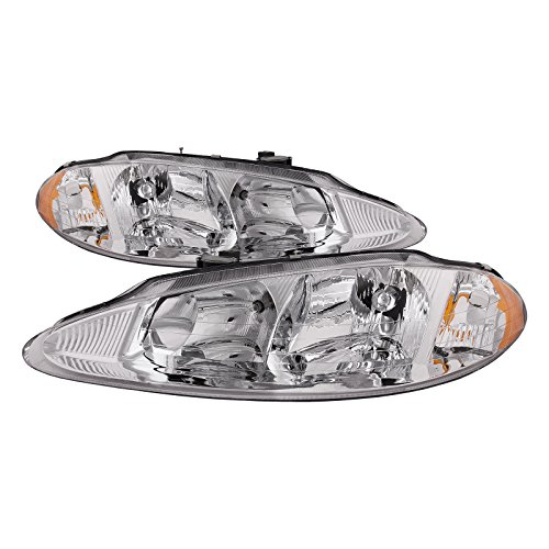 HEADLIGHTSDEPOT Compatible with Dodge Intrepid Replacement Headlights Headlamps Set New Pair
