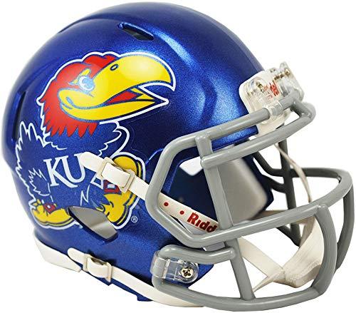 - Sports Memorabilia Riddell Kansas Jayhawks Revolution Speed Mini Football Helmet - College Mini Helmets