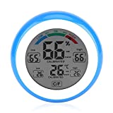 Indoor Digital Hygrometer Thermometer Touch Screen LCD Display Humidity Temperature Meter Monitor(Blue)