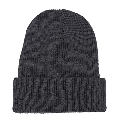 Wigwam Men's 1015 Wool Ribbed Watch Cap, Mid Gray Heather, One Size