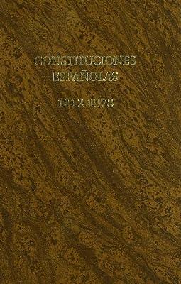 Constituciones Españolas 1812-1978 (Monografía): Amazon.es ...