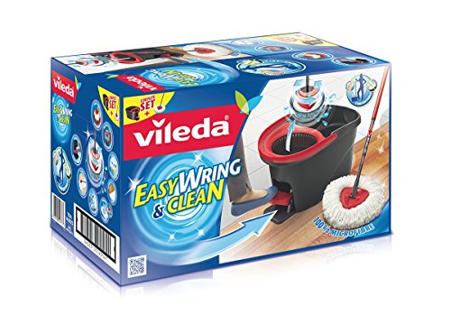 vileda easy wring and clean microfibre mop and bucket with power spin wringer buy online in. Black Bedroom Furniture Sets. Home Design Ideas