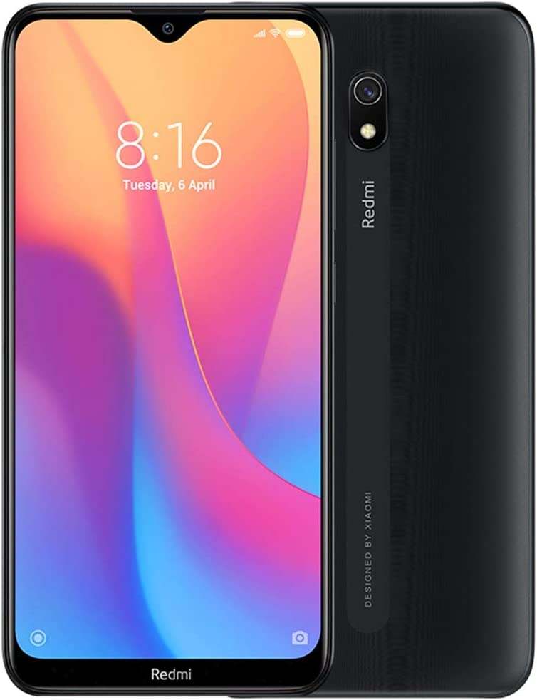 "Xiaomi Redmi 8A (32GB, 2GB RAM) 6.22"" HD Display, Snapdragon 439, 5000mAh Battery, Dual SIM GSM Unlocked - US & Global 4G LTE International Version (Midnight Black, 32 GB)"