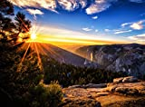 Wooden Jigsaw Puzzle Sunrise Yosemite National Park Mountains Landscape California USA 500-Pieces