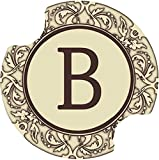 Thirstystone Monogram B Car Cup Holder Coaster, 2-Pack