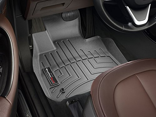 2016 BMW X1 Full Set Floor Liners 1st and 2nd Rows (Black) by WeatherTech (Image #1)