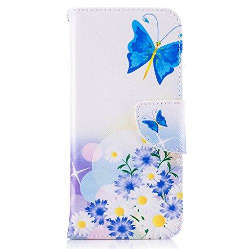 Trumpshop Smartphone Carcasa Funda Protección para Samsung Galaxy S8 (5,8 Pulgada) [Dont Touch My Phone (oso del bebé)] PU Cuero Caja Protector Billetera con Cierre magnético Choque Absorción Hada de la Mariposa