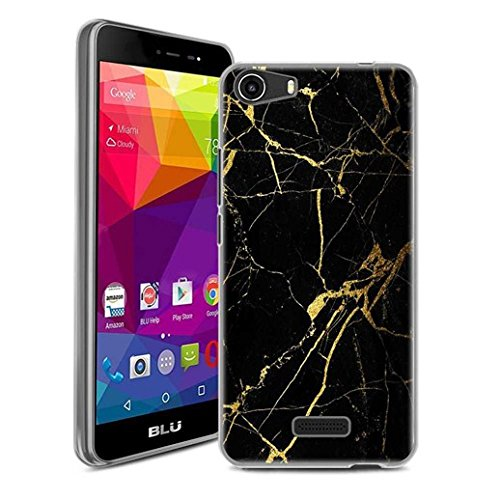 BLU Life One X 4G LTE Case, SuperbBeast Ultra Thin Slim Crystal Clear Soft Silicone TPU Rubber Protective Cover Case Skin for BLU Life One X 4G LTE Smartphone (Marble Texture)