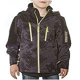 Snozu Hooded Softshell Jacket for Boys (X-Small / 5-6, Black)