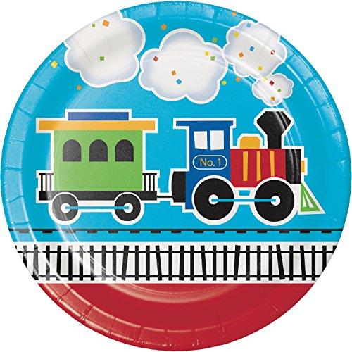 All Aboard Train Paper Plates, 24 ct