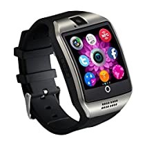 Qiufeng Q18 Smart Watch Smartwatch Bluetooth Touchscreen Wrist Watch with Camera Unlocked Cell Phone TF/SIM Card Slot for Android and IPhone Smartphones for Kids Girls Boys MenWomen