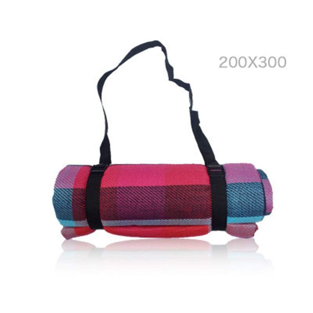 DDFHK Tragbare ultraleichte Faltbare Wasserdichte Matte im Freien für 200 bis 300 cm Picknickmatte für 4-8 Personen, B