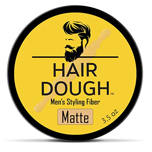Hair Dough Styling Clay For Men - Matte Finish Molding Hair Wax Paste - Strong Hold Without The Shine (Best Hair Product For Long Thick Hair)