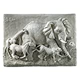Design Toscano Peaceful Passage Wall Sculpture, Greystone