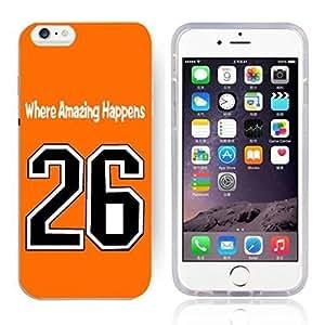GXFC Case Unique Design Basketball Sportsman Uniform Where Amazing Happens 26 Pattern HD Durable Hard Plastic Case Cover for iPhone 6 Plus(5.5 Inch)