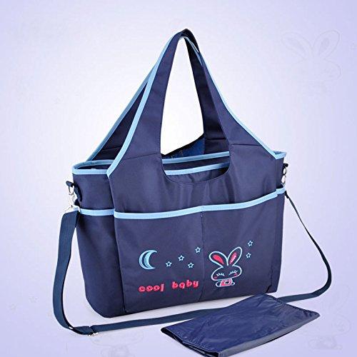 Resistente al agua Mummy bolso bebé pañales para pañales bolso cambiador rosa azul
