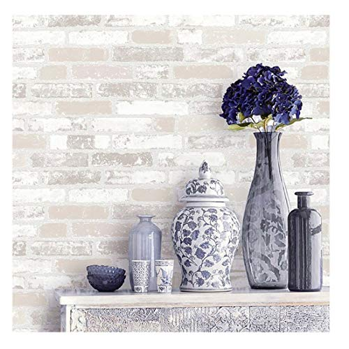 - Blooming Wall Faux Rustic Brick Wall Wallpaper Wall Mural, Priced in Double Rolls, Looks Real Up!03