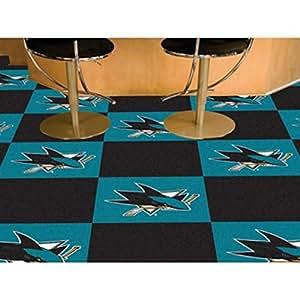 "FANMATS 10678 NHL San Jose Sharks Novelty Team Carpet Tiles Size: Square 18"" x 18"""